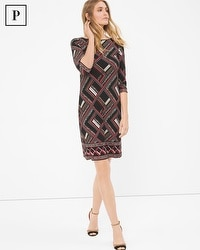 Petite Geometric Printed Dress