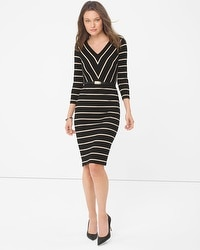 Striped Sheath Dress