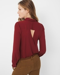 Surplice-Back Top