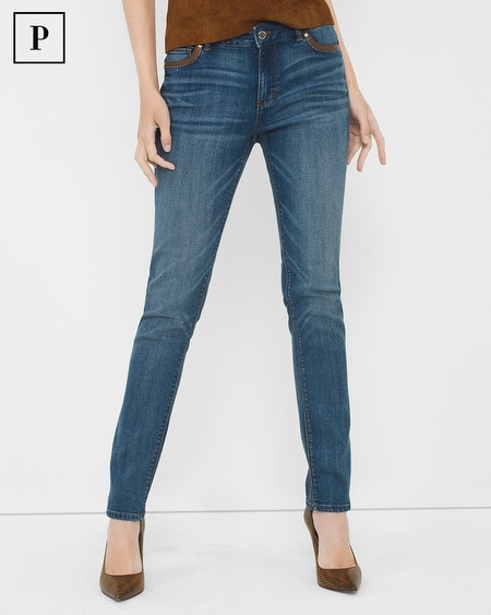 Petite Fashion-Trim Slim Jeans