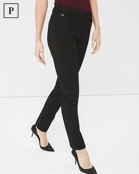Petite Premium Bi-Stretch Slim Ankle Pants