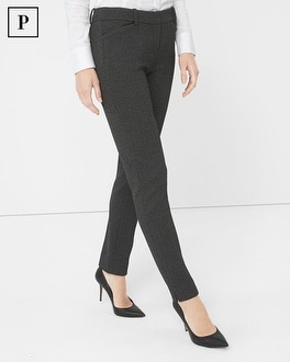 Petite Herringbone Slim Ankle Pants