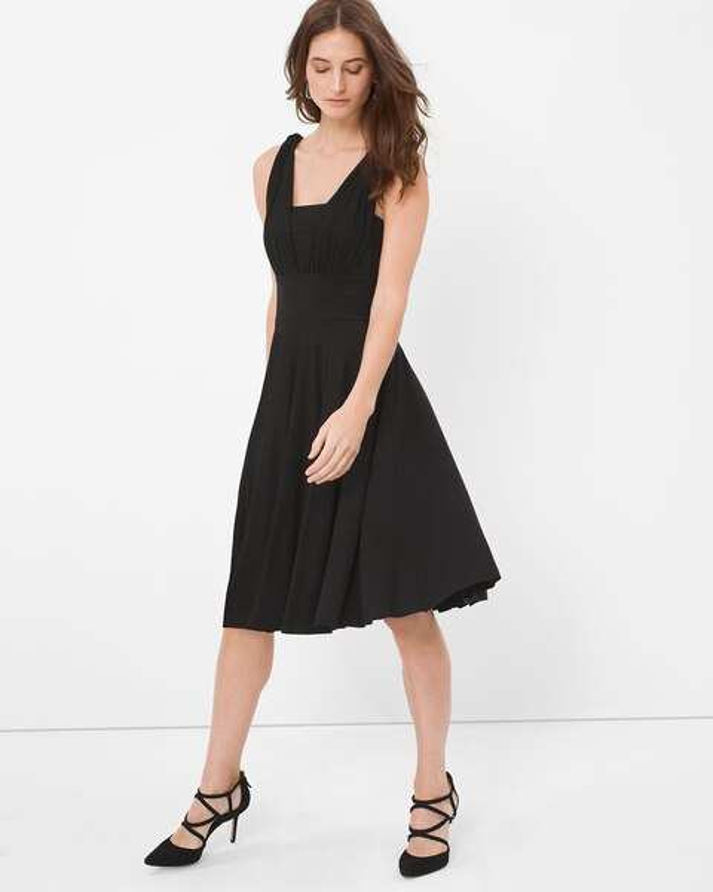 Genius Convertible Black Dress White House Black Market