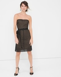 Strapless Shadow Stripe Dress