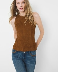 Suede Bodice Top