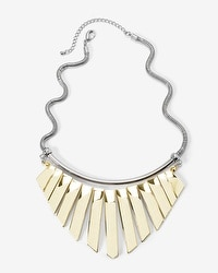 Mixed Metal Bib Necklace