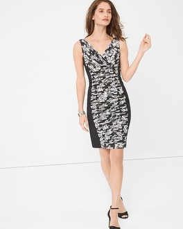 Printed Ruched-Detail Dress