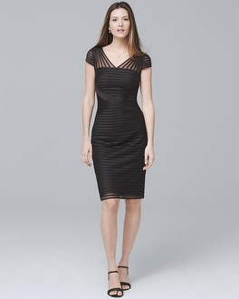 Banded Black Sheath Dress
