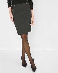 Herringbone Ponte Skirt