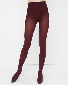 Burgundy Opaque Tights