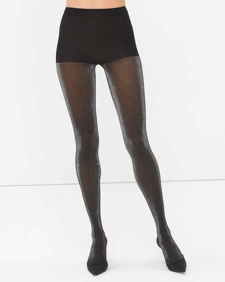 Silver Shimmer Opaque Tights