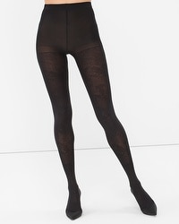 Embroidered Opaque Tights