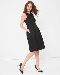 Black Jaquard and Lace Dress