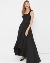 One-Shoulder Black Asymetric Gown