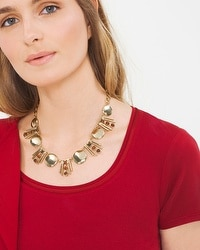 Jasper Bar Stud Necklace