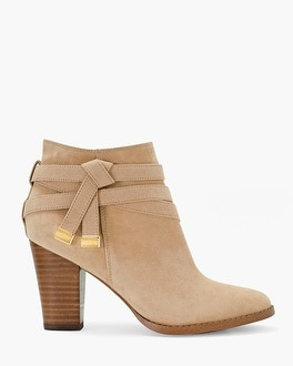 Suede Moto Ankle Boots
