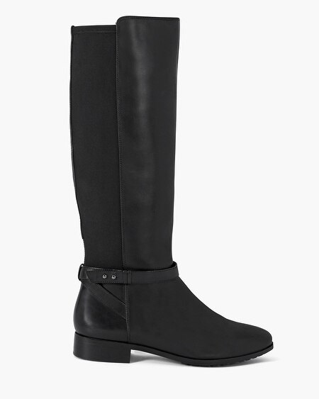 Leather 50/50 Stretch Flat Boots