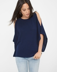 Shoulder Cutout Poncho