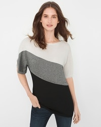 Colorblock Marled Pullover