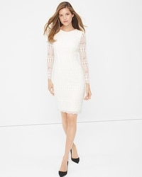 White Lace Sheath Dress