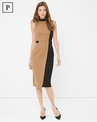 Petite Mock Neck Sheath Dress