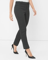 Curvy Herringbone Slim Ankle Pants