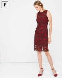 Petite Tonal-Lace Sheath Dress