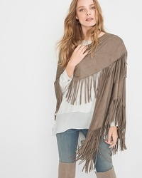 Fringe-Trim Cape