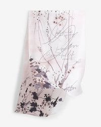 Printed Silk Oblong Scarf