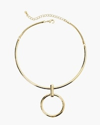 Circle Pendant Collar Necklace