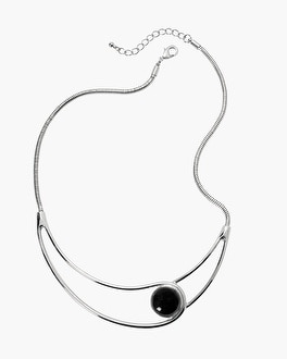 Black Onyx Open Collar Necklace