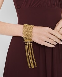 Chain And Fringe Bracelet