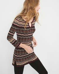 Patterned Tunic Sweater