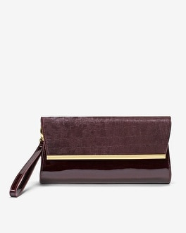 Embossed & Patent Clutch Bag