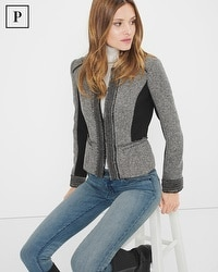 Petite Tweed Moto Jacket
