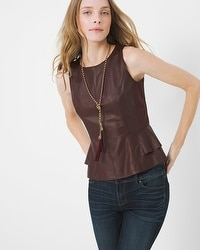 Peplum Leather Bodice Top