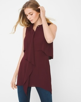 Draped-Front Utility Tunic