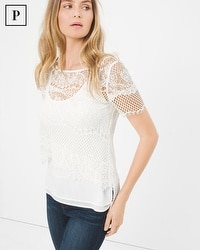 Petite Layered Lace Top