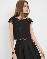Lace Crop Bodice Top