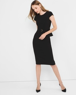 Black Peplum Sheath Dress