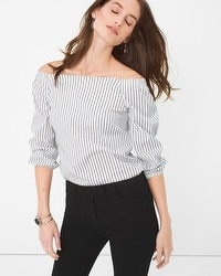 Off-The-Shoulder Poplin Top