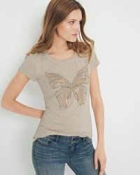 Living Beyond Breast Cancer Butterfly Tee