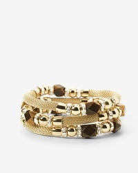 Tiger Eye Mesh Stretch Bracelet Set