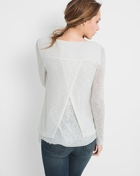 Lace-Detail Knit Top