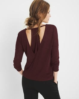 Open-Back Knit Top