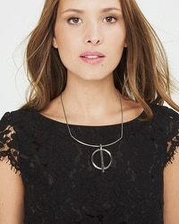 Bar-Circle Collar Necklace