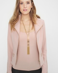 Soft Goldtone Tassel Necklace