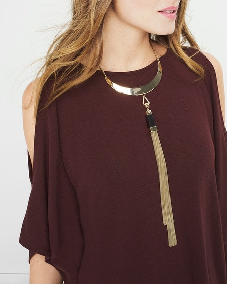 Tassel-Detail Collar Necklace