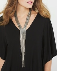 Fringe-Detail Long Necklace
