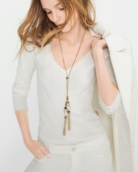 Double-Tassel Long Necklace